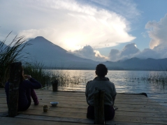 Sunset on Lake Atitlan-Guatemala YTT 2013